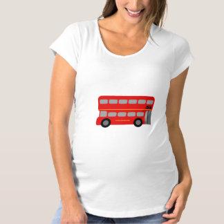 Red London Bus Maternity T-Shirt