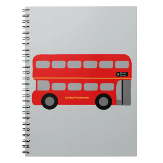 Red London Bus Notebook