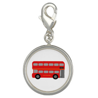 Red London Bus Photo Charms