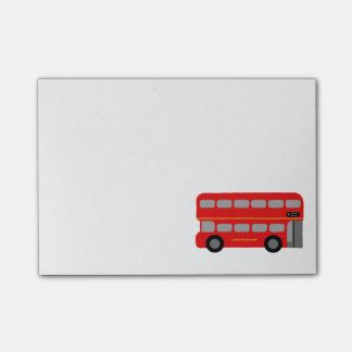Red London Bus Post-it Notes