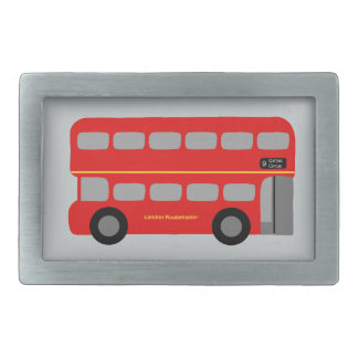 Red London Bus Rectangular Belt Buckle