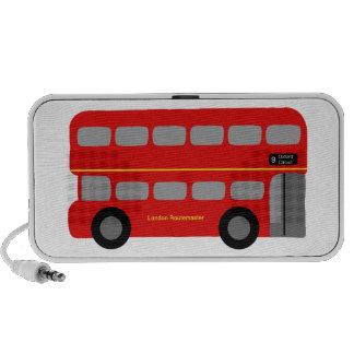 Red London Bus Laptop Speakers