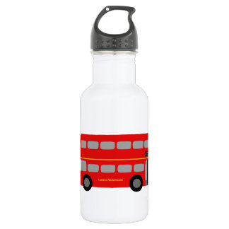 Red London Bus Stainless Steel Water Bottle