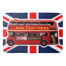 Red London Bus Themed Bathroom Mat