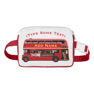 Red London Bus Themed Fanny Pack