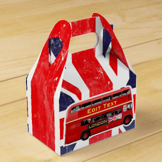 Red London Bus Themed Favor Box