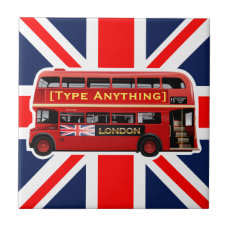 Red London Bus Themed Tile