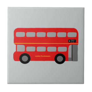 Red London Bus Tile