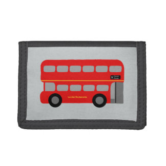 Red London Bus Tri-fold Wallet
