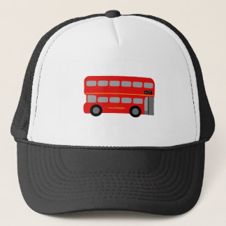 Red London Bus Trucker Hat
