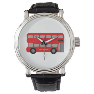 Red London Bus Wrist Watch