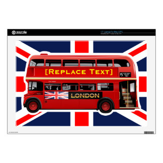 "Red London Double Decker Bus 17"" Laptop Decals"