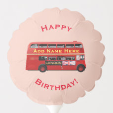 Red London Double Decker Bus Balloon