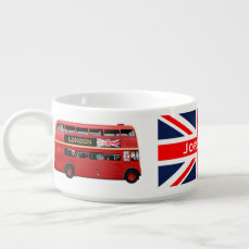 Red London Double Decker Bus Bowl