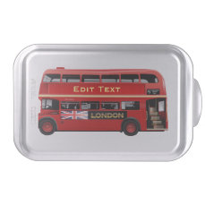 Red London Double Decker Bus Cake Pan