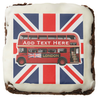 Red London Double Decker Bus Chocolate Brownie