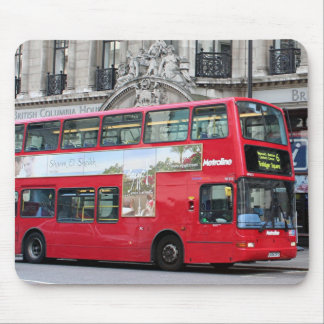 Red London Double Decker Bus, England Mouse Pad