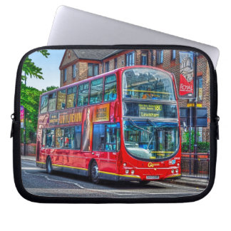 Red London Double-Decker Bus - England, UK Laptop Sleeve