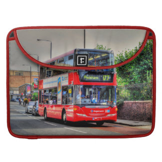 Red London Double-Decker Bus - England, UK MacBook Pro Sleeves