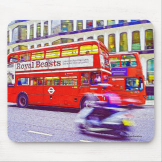 Red London Double-Decker Bus - England, UK Mouse Pad