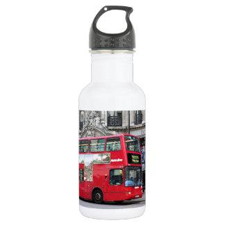 Red London Double Decker Bus, England Water Bottle