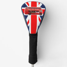 Red London Double Decker Bus Golf Head Cover