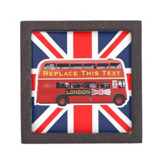Red London Double Decker Bus Jewelry Box