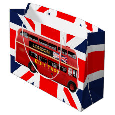 Red London Double Decker Bus Large Gift Bag