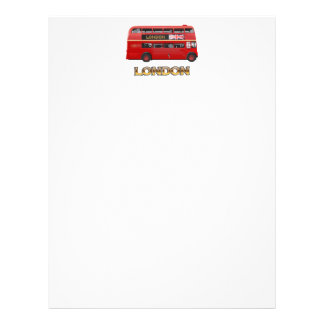 Red London Double Decker Bus Letterhead