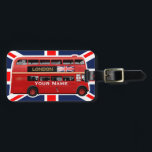"""Red London Double Decker Bus Luggage Tag<br><div class=""""desc"""">The red Leyland Titan RTL554 Double-Decker bus is a true symbol of London and Britain. Press the &quot;Customize it!&quot; button to add text,  pick the font,  adjust colours &amp; size,  and make the perfect gift for your loved ones!</div>"""