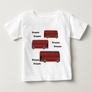 Red London Double-Decker Bus Print Baby T-Shirt