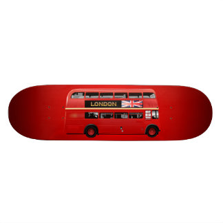 Red London Double Decker Bus Skateboard