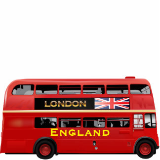 Red London Double Decker Bus Statuette
