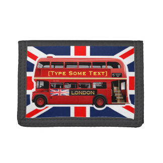 Red London Double Decker Bus Trifold Wallet