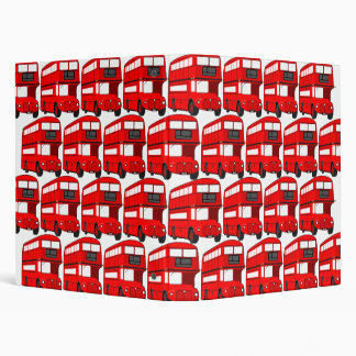 Red London Double Decker Bus Wallpaper 3 Ring Binder