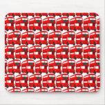 Red London Double Decker Bus Wallpaper Mousepad