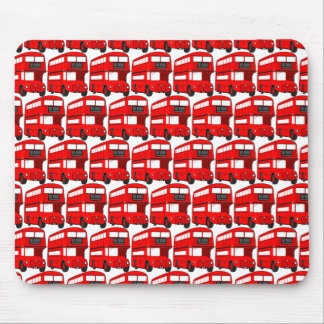 Red London Double Decker Bus Wallpaper Mouse Pad
