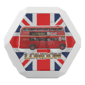 Red London Double Decker Bus White Bluetooth Speaker