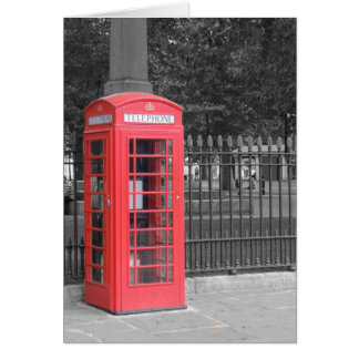 Red London Phonebox Greeting Card
