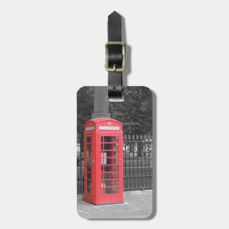 Red London Phonebox Luggage Tag