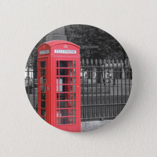Red London Phonebox Pinback Button