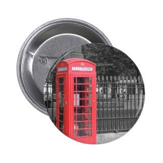 Red London Phonebox Pinback Button