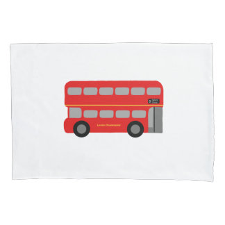 Red London Routemaster Bus Pillowcase