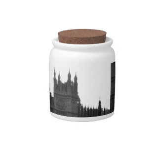 red London Tour bus and Big Ben Candy Dishes