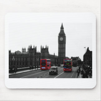 red London Tour bus and Big Ben Mouse Pad