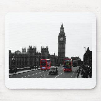 red London Tour bus and Big Ben Mouse Mat