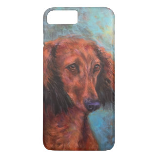 Red long haired dachshund iPhone 8 plus/7 plus case