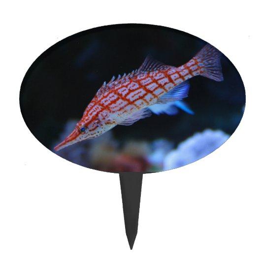 Red Longnose Hawkfish Cake Topper