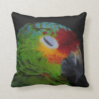 Red Lored Amazon Bird Winking American MoJo Pillow