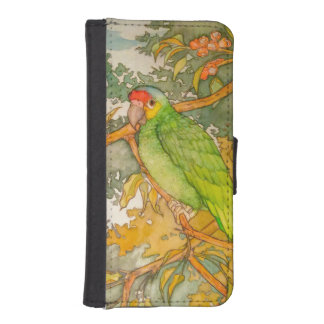 Red Lored Amazon Parrot iPhone SE/5/5s Wallet